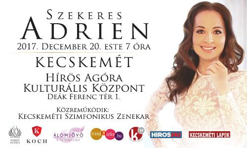 Szekeres Adrien ünnepi koncertje Kecskeméten